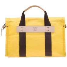 Will Leather Goods Waxed Canvas Duffel Bag in Yellow - Closeouts