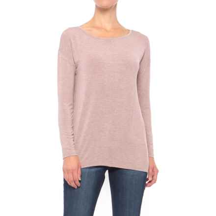 Willi Smith Drop-Shoulder Shirt - Long Sleeve (For Women) in Rose Quartz Heather - Closeouts