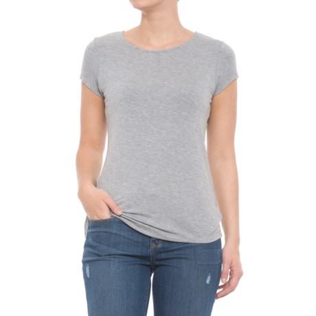 Willi Smith Modal Crew Shirt - Short Sleeve (For Women) in Medium Grey Heather