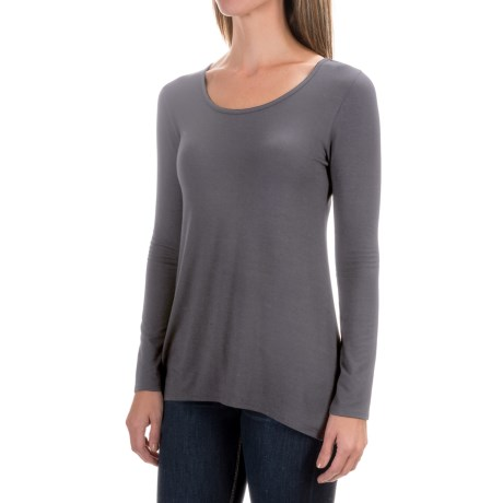 Willi Smith Scoop Shirt - Jersey Knit, Long Sleeve (For Women) in Volcanic