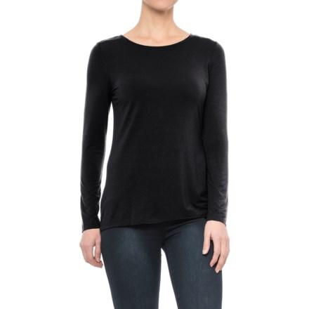 8de1ebe073 Willi Smith Thin Binding Modal Shirt - Long Sleeves (For Women) in Black -