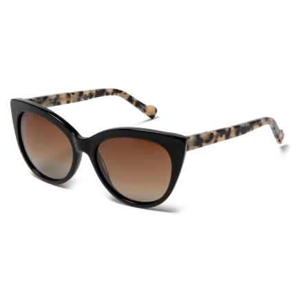 William Rast Cat's Eye Sunglasses - Polarized in 01F Shiny Black/Gradient Brown - Closeouts