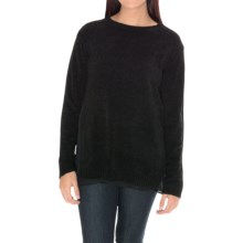 William Rast Chiffon-Trim Chenille Sweater (For Women) in Black - Closeouts