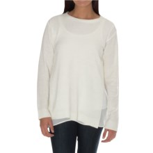 William Rast Chiffon-Trim Chenille Sweater (For Women) in Champagne - Closeouts