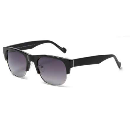 William Rast Clubmaster Sunglasses - Polarized (For Women) in Matte Black/Gradient Smoke - Closeouts