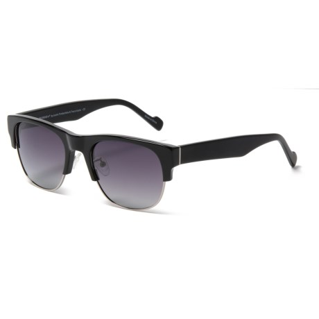 William Rast Clubmaster Sunglasses - Polarized (For Women) in Matte Black/Gradient Smoke