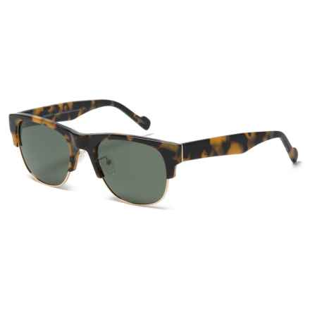 William Rast Clubmaster Sunglasses - Polarized (For Women) in Toyko Tortoise/Green - Closeouts
