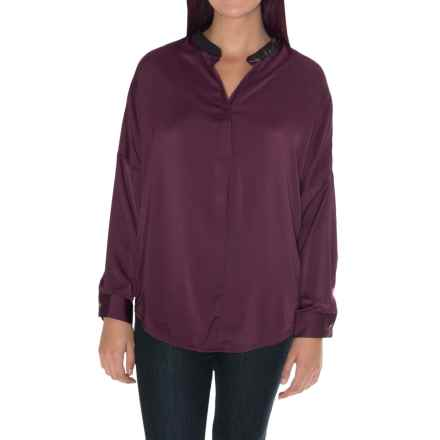 William Rast Dolman Sleeve Blouse - Long Sleeve (For Women) in Eggplant - Closeouts