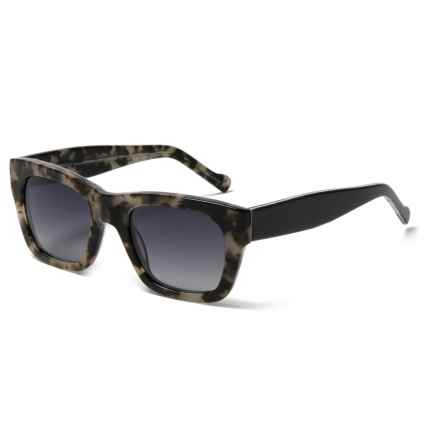 William Rast Mod Wayfarer Sunglasses - Polarized (For Women) in Grey Tortoise/Gradient Smoke - Closeouts