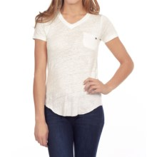 William Rast Pocket T-Shirt - Short Sleeve (For Women) in Ecru - Closeouts