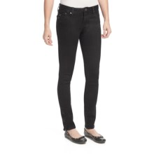William Rast Raven Skinny Jeans - Ankle Zips, Cotton Twill (For Women) in Onyx - Closeouts