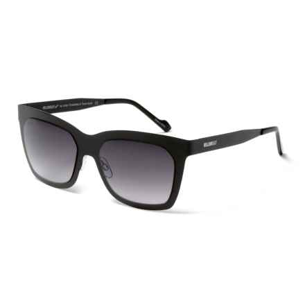 William Rast Rectangular Rimmed Sunglasses (For Women) in Satin Black/Gradient Smoke - Closeouts