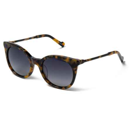 William Rast Rounded Lens Sunglasses - Polarized in 56B Tokyo Tortoise/Gradient Smoke - Closeouts