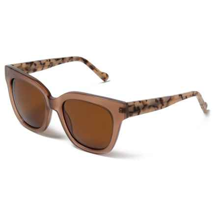 William Rast Thick Frame Sunglasses - Polarized in 74E Blush/Brown - Closeouts