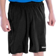 "Wilson 10"" Woven Shorts - UPF 30+ (For Men) in Black - Closeouts"