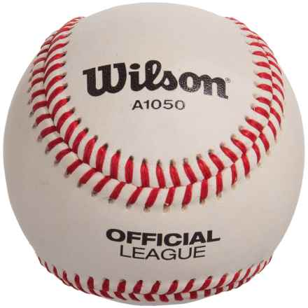 Wilson A1050 Official League Baseball - Set of 12, Youth, Leather in See Photo - Closeouts