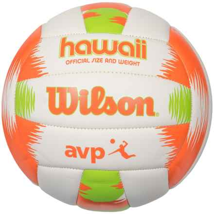 Wilson AVP Hawaii Volleyball - Official Size in Orange - Closeouts