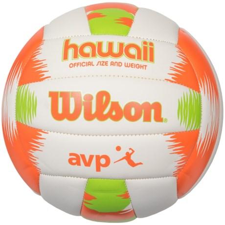 Wilson AVP Hawaii Volleyball - Official Size in Orange