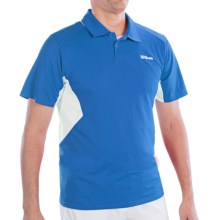 Wilson Great Get Polo Shirt - UPF 30+, Short Sleeve (For Men) in Pool/White - Closeouts