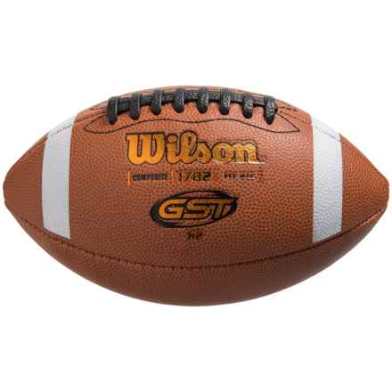Wilson GST K2 Composite Football - Peewee in See Photo - Closeouts