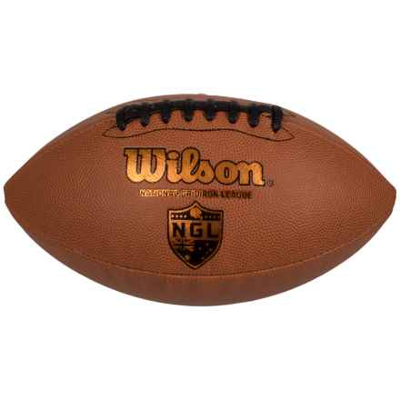 Wilson GST Official Football in Leather - Closeouts