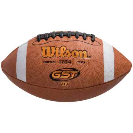 Wilson GST TDY Composite Football - Youth in See Photo - Closeouts