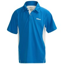 Wilson Junior High-Performance Polo Shirt - UPF 30+, Short Sleeve (For Boys) in Pool/White - Closeouts