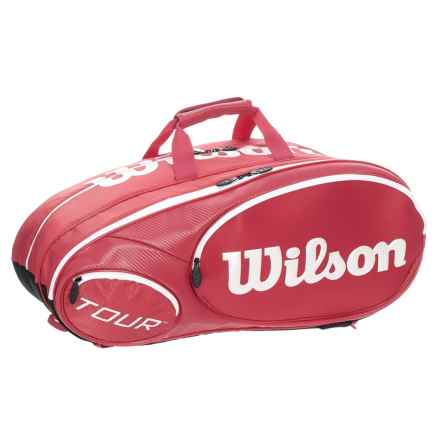 "Wilson Mini Tour 6 Pack Tennis Bag - Fits 26"" Racquets in Red - Closeouts"
