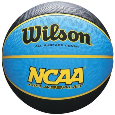 Wilson NCAA Air Assault Basketball in Black/Blue