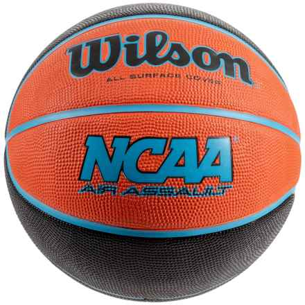 Wilson NCAA Air Assault Basketball in Orange/Blue - Closeouts