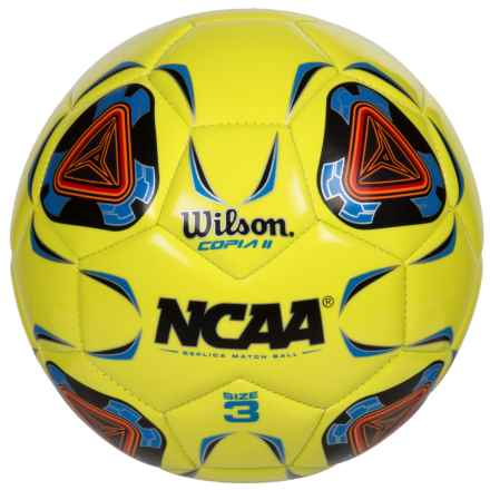 Wilson NCAA Replica Copia II Soccer Ball - Size 3 in Optic Green - Closeouts