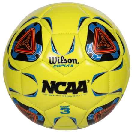 Wilson NCAA Replica Copia II Soccer Ball - Size 3 in Optic Green - Closeouts