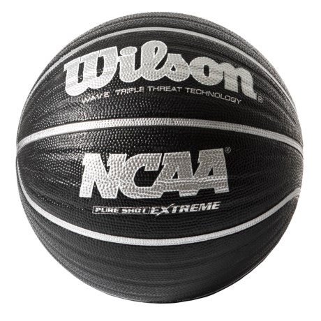 """Wilson NCAA Wave Pure Shot Basketball - 29.5"""", Official Size in Black"""