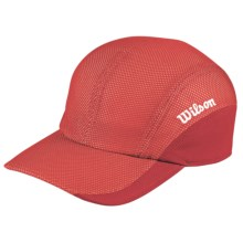 Wilson New Performance Hat - UPF 30+ (For Men and Women) in Red/White - Closeouts