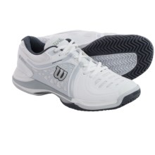 Wilson Nvision Elite Tennis Shoes (For Men) in White/Pearl Grey/Coal - Closeouts