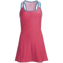 Wilson Passion Dress - UPF 30+, Built-In Sports Bra, Sleeveless (For Women) in Super Pink/Cyan - Closeouts
