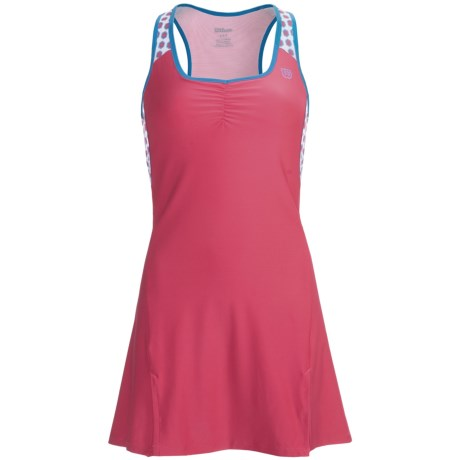 Wilson Passion Dress - UPF 30+, Built-In Sports Bra, Sleeveless (For Women) in Super Pink/Cyan
