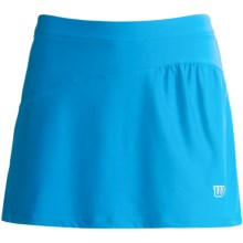 Wilson Passion Skirt - UPF 30+, Built-In Shorts (For Women) in Cyan/Super Pink/White - Closeouts