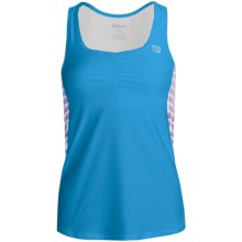 Wilson Passion Tank Top - UPF 30+, Built-In Sports Bra (For Women) in Cyan/White - Closeouts