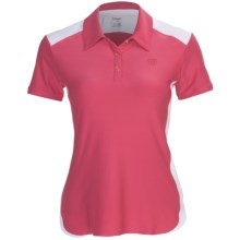 Wilson Polo Shirt - UPF 30+, Short Sleeve (For Women) in Pink/White - Closeouts