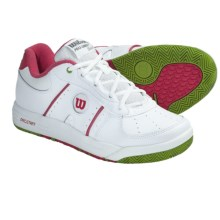 Wilson Pro Staff Classic II Tennis Shoes (For Women) in White/Super Pink/Kiwi - Closeouts