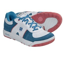 Wilson Pro Staff Classic Supreme Tennis Shoes (For Women) in White/Cyan/Prep Pink - Closeouts