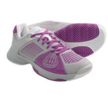 Wilson Rush NGX Tennis Shoes (For Women) in Steel Grey/New Fuchsia/White - Closeouts