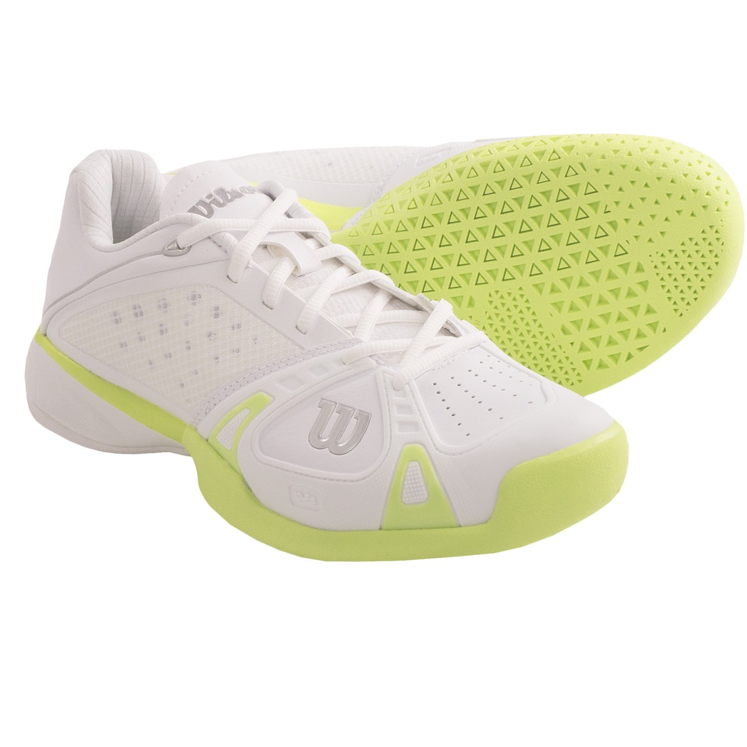 wilson pro staff classic supreme tennis shoes for women in white cyan