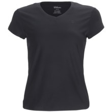 Wilson Short Sleeve V-Neck Shirt - UPF 30+ (For Women) in Black - Closeouts