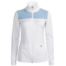 Wilson Sweet Spot Jacket - UPF 30+ (For Women) in White/Cyan - Closeouts