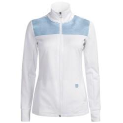 Wilson Sweet Spot Jacket - UPF 30+ (For Women) in White/Cyan