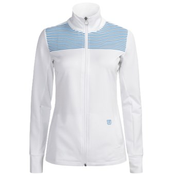 Wilson Sweet Spot Jacket - UPF 30+ (For Women) in White/Cyan