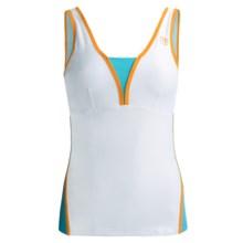Wilson Total Control Tennis Tank Top - UPF 30+, Built-In Bra (For Women) in White/Oceana/Tuscan Orange - Closeouts