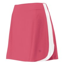 Wilson Tour II Skirt - UPF 30+, Built-In Brief (For Women) in Super Pink/White - Closeouts